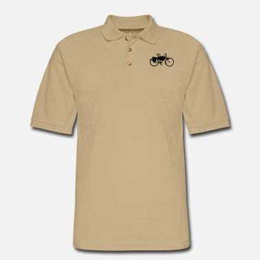 Army swiss_army_bike_bw - Men's Pique Polo Shirt