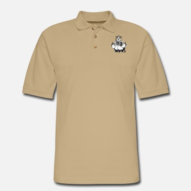 Australian Sheep Dog Australian Shepherd and sheep - Dog - Men's Pique Polo Shirt