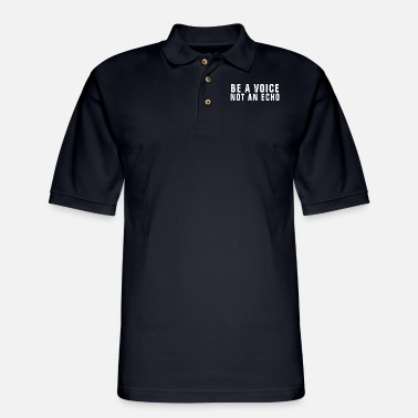 Christ Be A Voice Not An Echo - Christian - Men's Pique Polo Shirt