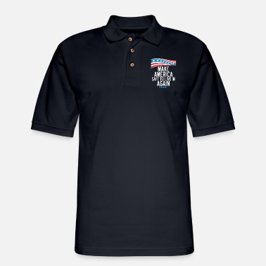 Make America Safe to Live in Again - Men's Pique Polo Shirt