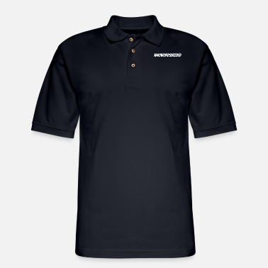 Social Hashtag # nowordsneeded funny saying - Men's Pique Polo Shirt