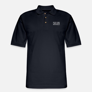 Sorry Girls I Only Date Models - Men's Pique Polo Shirt
