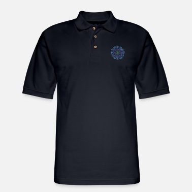 Painting Mandala art drawing for gift - Men's Pique Polo Shirt