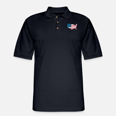 United States United States - Men's Pique Polo Shirt