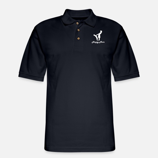 Son Polo Shirts - Mum - Men's Pique Polo Shirt midnight navy