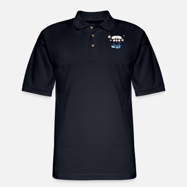Love i love you mom whale - Men's Pique Polo Shirt