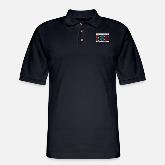 Gambling Polo Shirts - I Don't Have A Problem With Gambling - Men's Pique Polo Shirt midnight navy