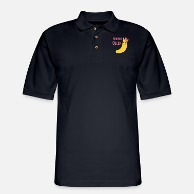 Banana The Queen Banana Gift Idea - Men's Pique Polo Shirt