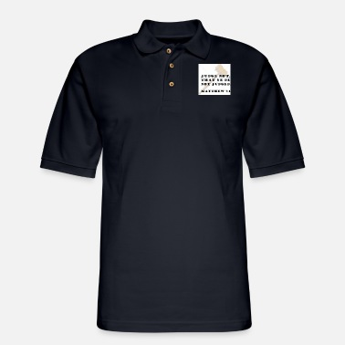 Judge JUDGE THAT YOU NOT BE JUDGED - Men's Pique Polo Shirt