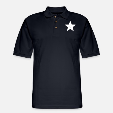 Grungy Grungy Star - Men's Pique Polo Shirt
