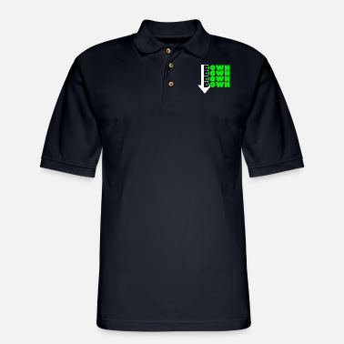 Down Down Down Down Down Design - Men's Pique Polo Shirt