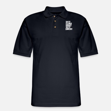 Movement White Silence Equals White Consent - Men's Pique Polo Shirt
