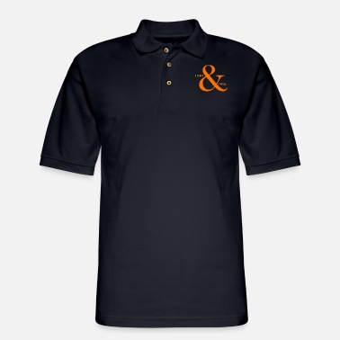 Fast I can I will title of calligraphy text quotes - Men's Pique Polo Shirt