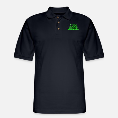 Windows Linux - i'm root linux by linux - Men's Pique Polo Shirt