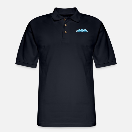 Sea Polo Shirts - Sea - Men's Pique Polo Shirt midnight navy