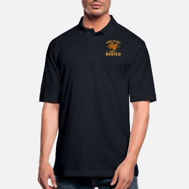 Shopping Time To Get Basted - Men's Pique Polo Shirt