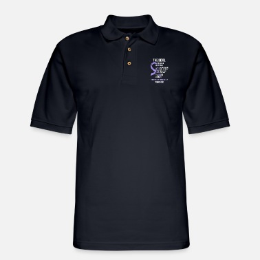 Cancer T shirt Strong Fighter - Men's Pique Polo Shirt