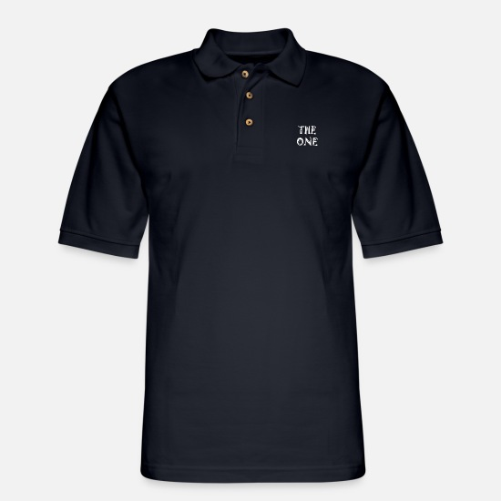 Feet Polo Shirts - the one trending t shirt baby - Men's Pique Polo Shirt midnight navy