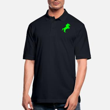 Equitation equitation rider jumping horse 8 - Men's Pique Polo Shirt