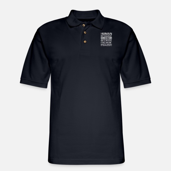 Director Polo Shirts - Human Resource Director - Human Resource Director - Men's Pique Polo Shirt midnight navy