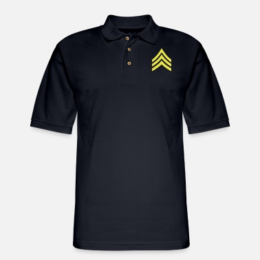 army rank patch sergeant - Men's Pique Polo Shirt