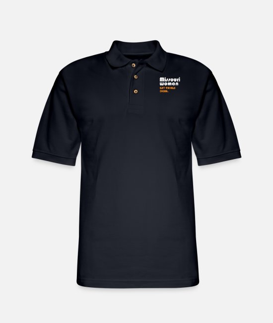 Womens Basketball Polo Shirts - Missouri women get things done - Men's Pique Polo Shirt midnight navy