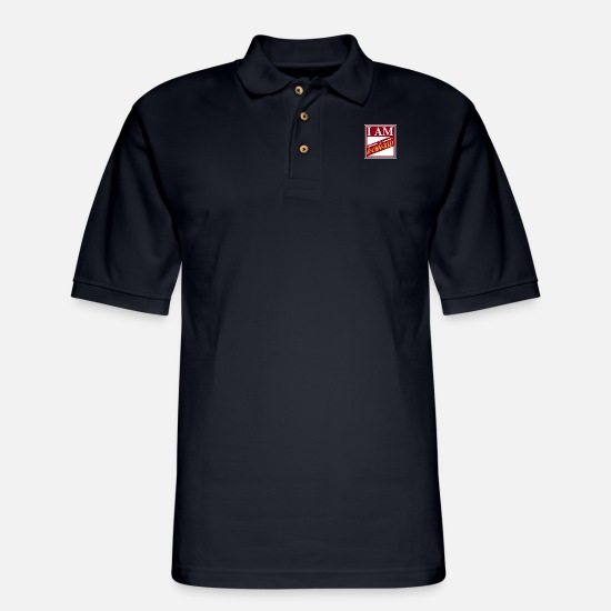 Journalist Polo Shirts - Journalist - Men's Pique Polo Shirt midnight navy