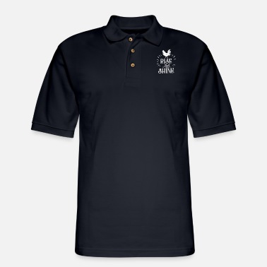 Rise and Shine Rooster Chicken Retro Chicken - Men's Pique Polo Shirt