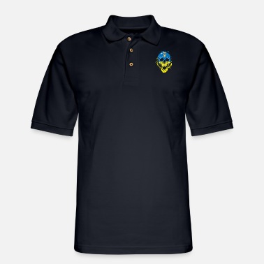 Orthodox Ukraine Skull Gift Country Orthodox Church - Men's Pique Polo Shirt