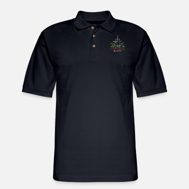 i just want to drink wine and watch christmas movi - Men's Pique Polo Shirt