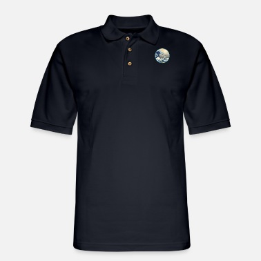 Anti The Great Blue Wave off DC Capital Building - Men's Pique Polo Shirt