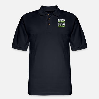 Golf Funny Golf Golfing Dad Fathers Day Golf Gifts For - Men's Pique Polo Shirt