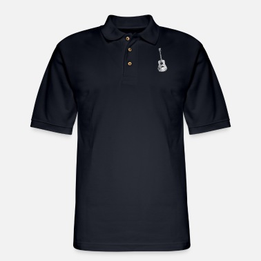 Instrument Guitar Instrument - Men's Pique Polo Shirt