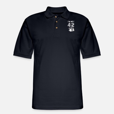 I am not 43 I am only 33 tax birthday - Men's Pique Polo Shirt