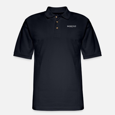 Police military police for those who know no explanation - Men's Pique Polo Shirt