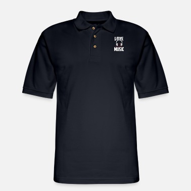 Deejay Love Musik club dance Deejay Disc jockey vinyl - Men's Pique Polo Shirt