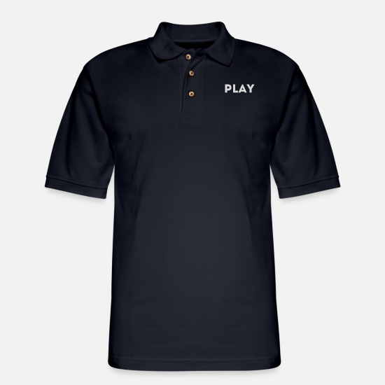 Play Polo Shirts - gamble - Men's Pique Polo Shirt midnight navy