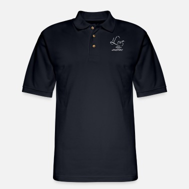 Love I love my marine boyfriend - Men's Pique Polo Shirt