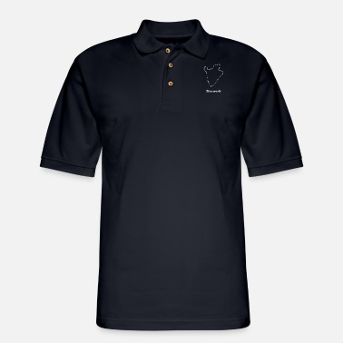 Map Burundi map map - Men's Pique Polo Shirt