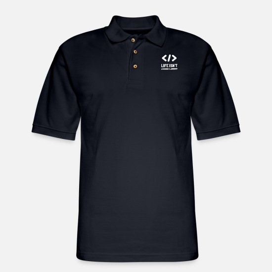Css Polo Shirts - Life Isn't Black #00000 & White #FFFFF | Hex Color - Men's Pique Polo Shirt midnight navy