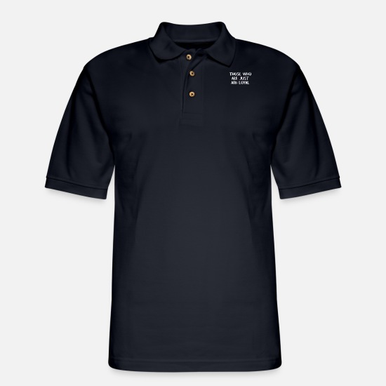 Floral Polo Shirts - Floral and Loyal - Men's Pique Polo Shirt midnight navy