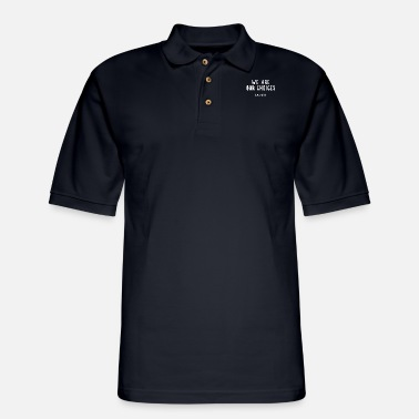 Hemingway Write hard and clear about what hurts. - Men's Pique Polo Shirt