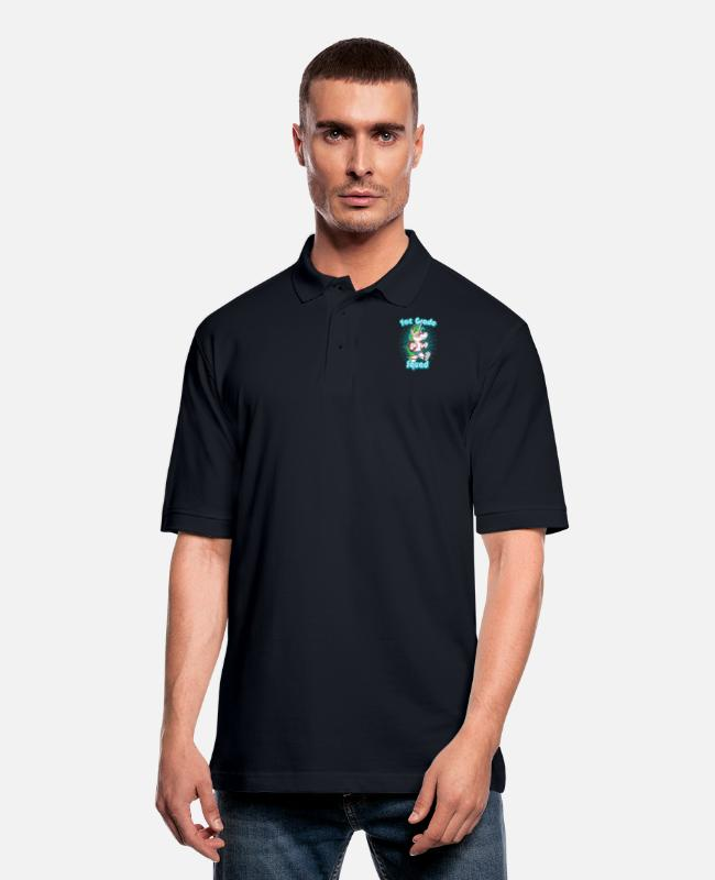 1st Grade Squad Polo Shirts - 1st Grade Squad - Men's Pique Polo Shirt midnight navy