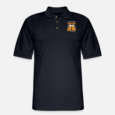 Belly beer belly drinking alcohol brewery beer festival - Men's Pique Polo Shirt
