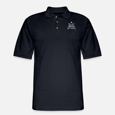 10th Birthday Ideas Happy Birthday 10th birthday - Men's Pique Polo Shirt