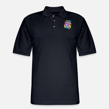 Culture I Love The 80s Gift Clothes for Women and Men - Men's Pique Polo Shirt