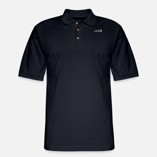 Career Polo Shirts - EVOLUTION OF WIFES - Men's Pique Polo Shirt navy