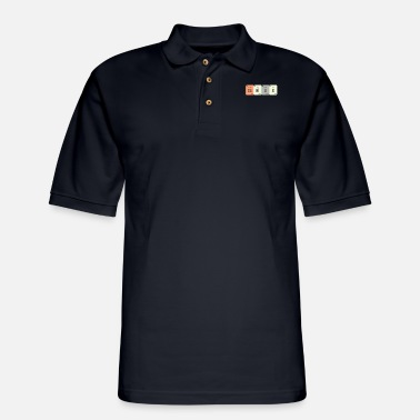 Brain Nerd GeNiUS - Periodic table - Men's Pique Polo Shirt