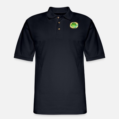 Plaice Happy River Fish Plaice Fishing Gift Fisherman - Men's Pique Polo Shirt