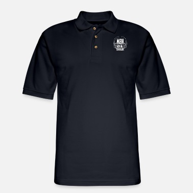 Hits My head hits hit - Men's Pique Polo Shirt